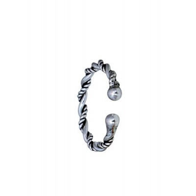 5068de38e04 Abhooshan 92.5 Sterling Silver Clip-on Nose Ring f.