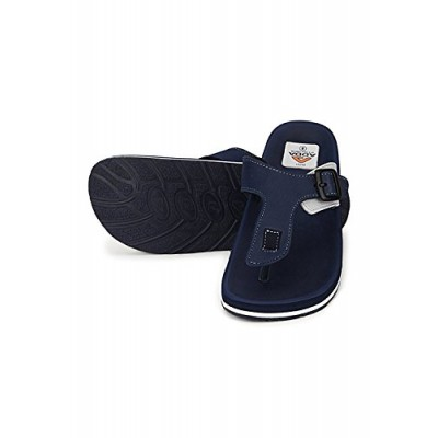 324c5147b Adda Faux Leather Navy Blue Flipflop for Men (Size.