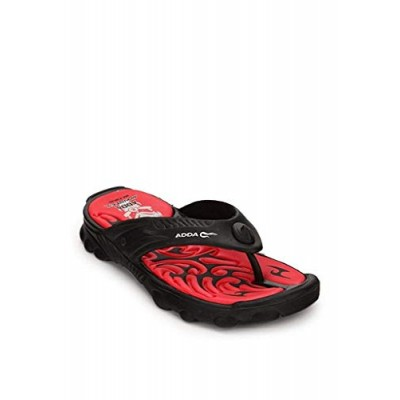 0aa83c9a3fac Adda Men s Black Red Synthetic House Slippers.