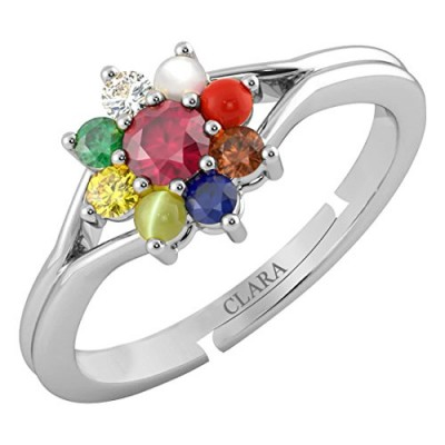 CLARA Certified Ruby Manik 4.8cts or 5.25ratti original stone Sterling Silver Astrological Ring for Men and Women