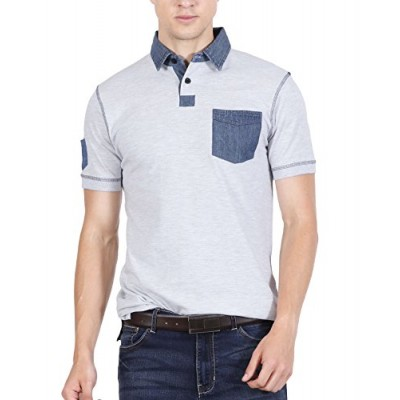 eda6c3652 fanideaz Men s Cotton Polo T Shirt (Blue
