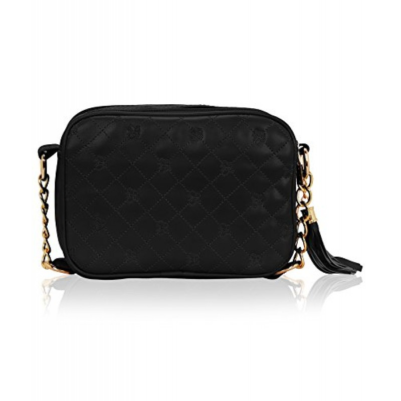 f742fa968 ... Kleio Designer Double Compartment Cross Body Sling Bag for Girls   Women  (Black) ...