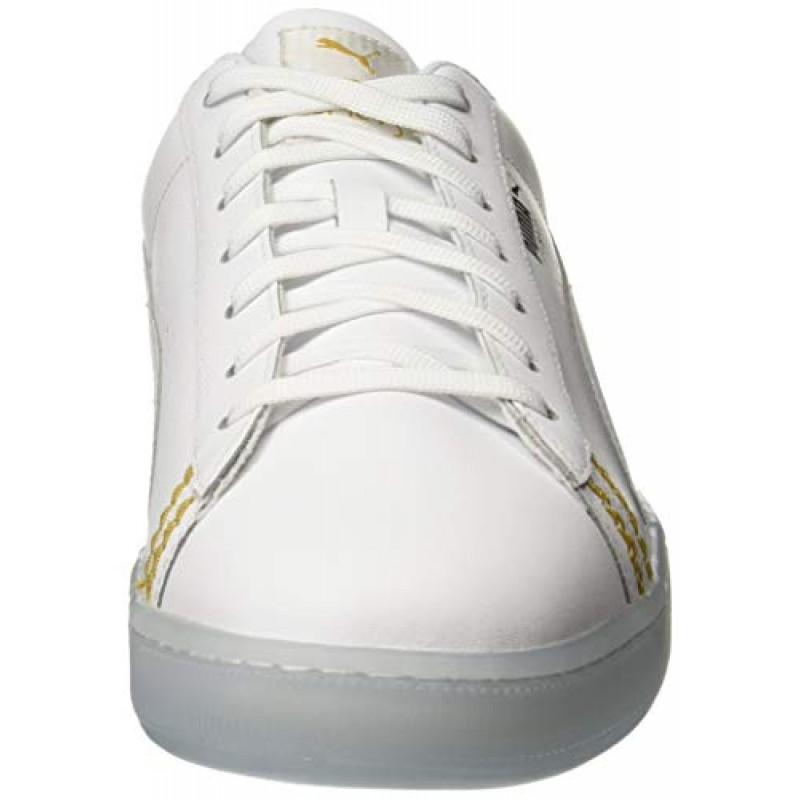 huge selection of 8a8fd 8b192 Buy Puma Unisex Basket Classic One8 White Team Gold-Bleu ...