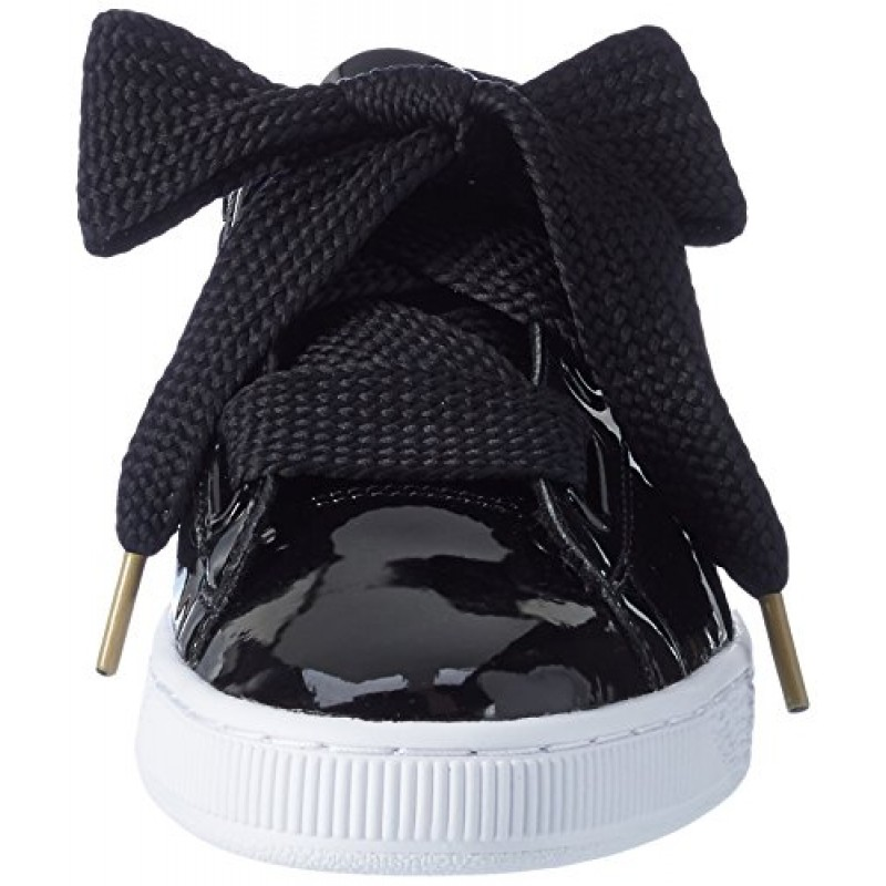 new style b6f7d 784a2 Buy Puma Women's Basket Heart Patent WN's Black Sneakers - 6 ...